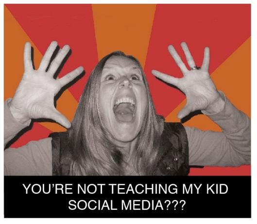 not teaching my kid social media?